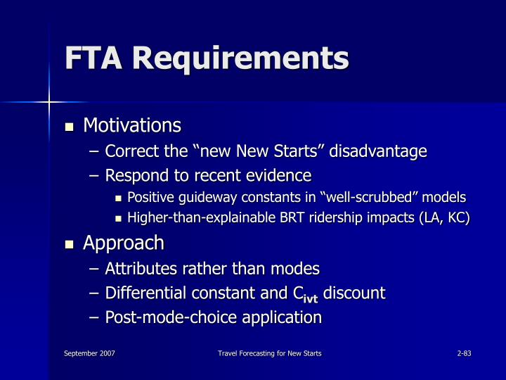 FTA Requirements