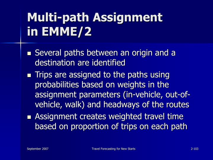 Multi-path Assignment