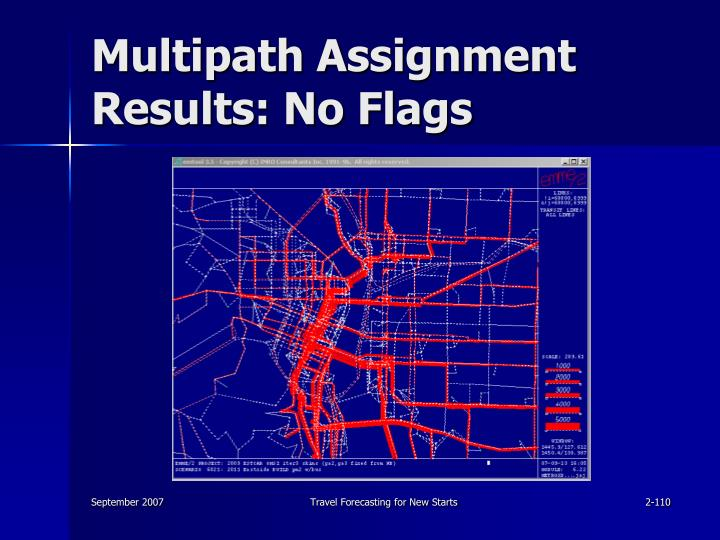 Multipath Assignment Results: No Flags