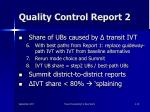quality control report 2