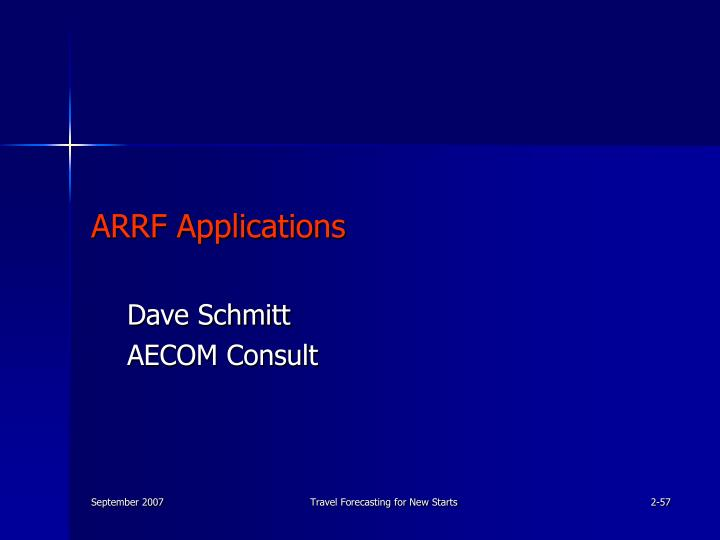 ARRF Applications