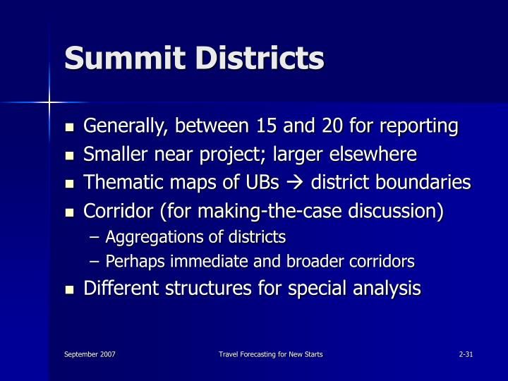 Summit Districts