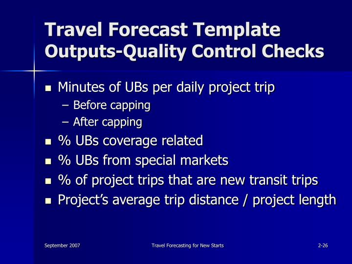 Travel Forecast Template