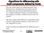 algorithms for differencing with multi components defined by fronts