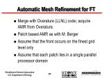 automatic mesh refinement for ft