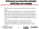 grid based reconstruction includes redistribute and untangle