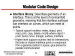 modular code design