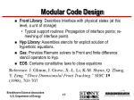 modular code design17