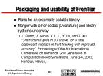 packaging and usability of frontier