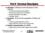 part ii technical description