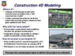 construction 4d modeling