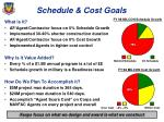 schedule cost goals