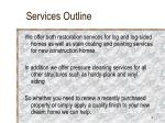 services outline
