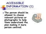 accessible information 1