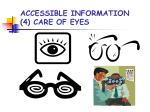 accessible information 4 care of eyes