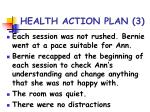 health action plan 3