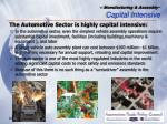manufacturing assembly capital intensive