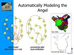 automatically modeling the angel