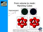from volume to mesh marching cubes61