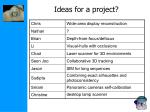 ideas for a project