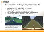 summarized history engineer models