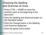 checking the spelling and grammar at once