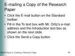 e mailing a copy of the research paper