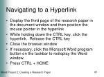 navigating to a hyperlink