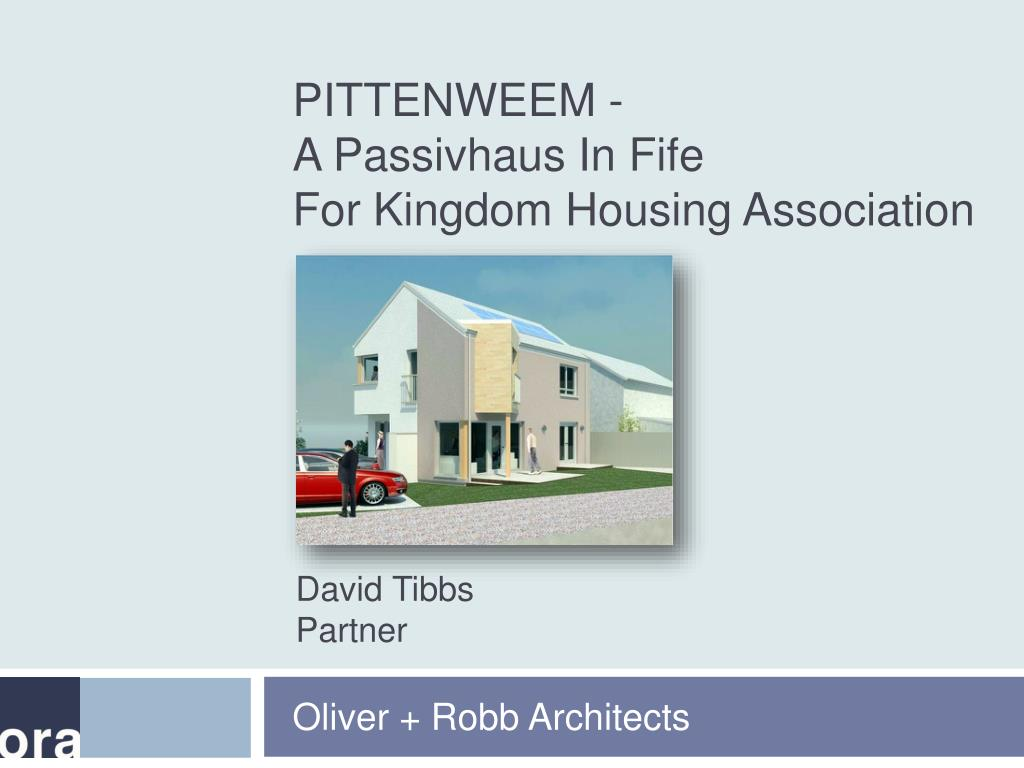 pittenweem a passivhaus in fife for kingdom housing association l.