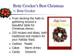 betty crocker s best christmas by betty crocker