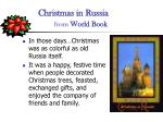 christmas in russia from world book
