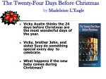 the twenty four days before christmas by madeleine l engle
