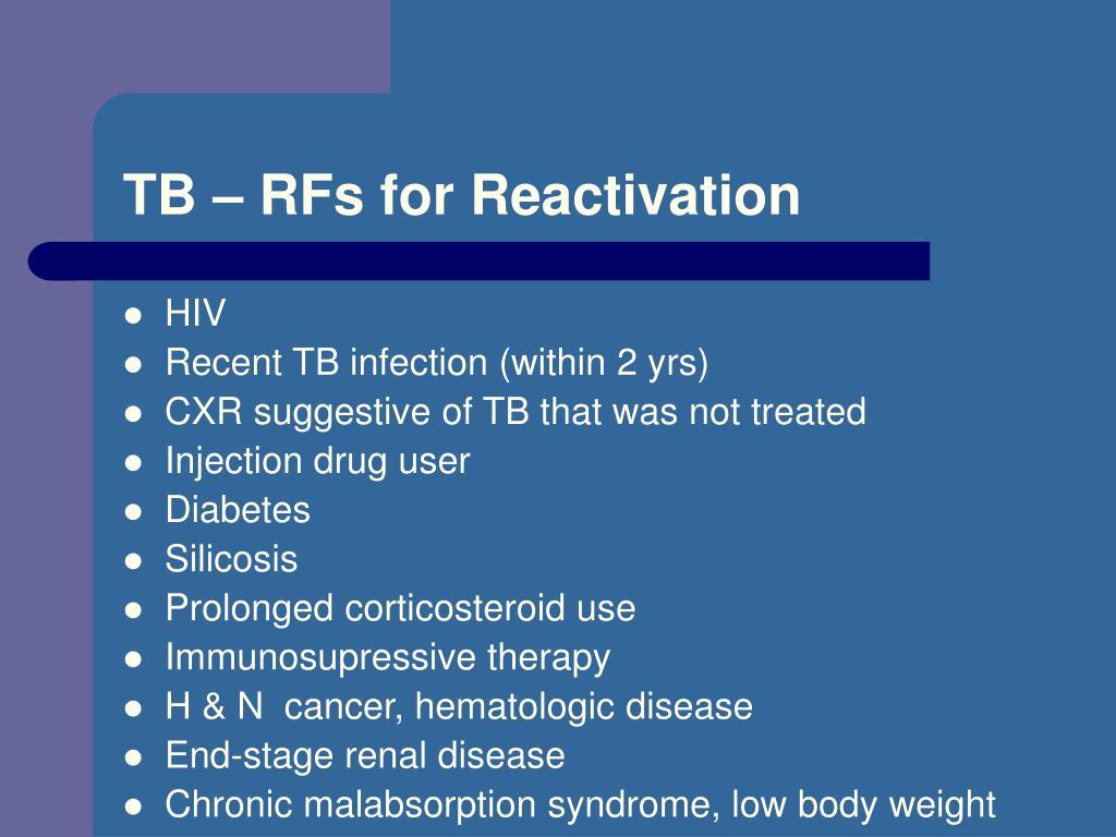 TB – RFs for Reactivation