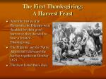 the first thanksgiving a harvest feast