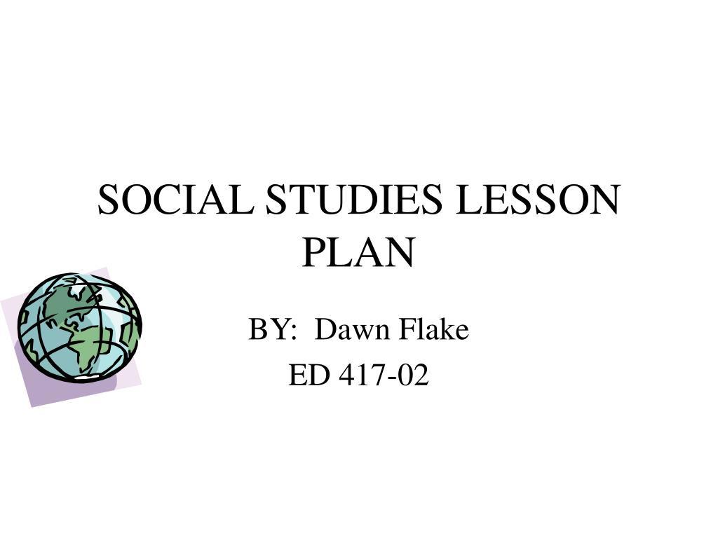 social studies lesson plan l.