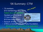 06 summary ctm