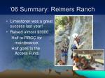 06 summary reimers ranch7