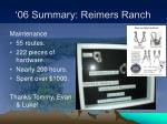 06 summary reimers ranch8