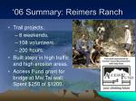 06 summary reimers ranch9
