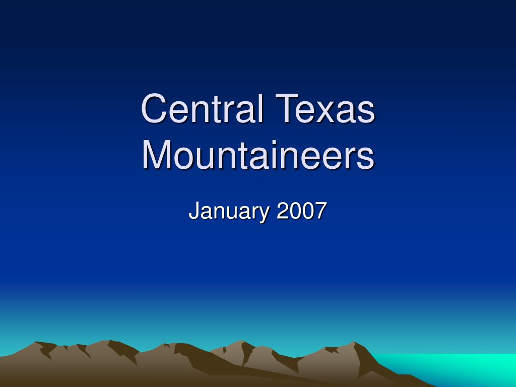 central texas mountaineers l.