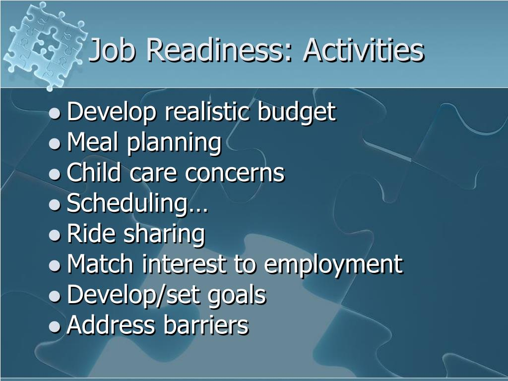 Ppt Job Readiness Models That Work Powerpoint