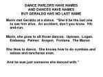 dance parlors have names and dances have names but geraldo has no last name