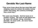 geraldo no last name