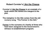 robert cormier s i am the cheese