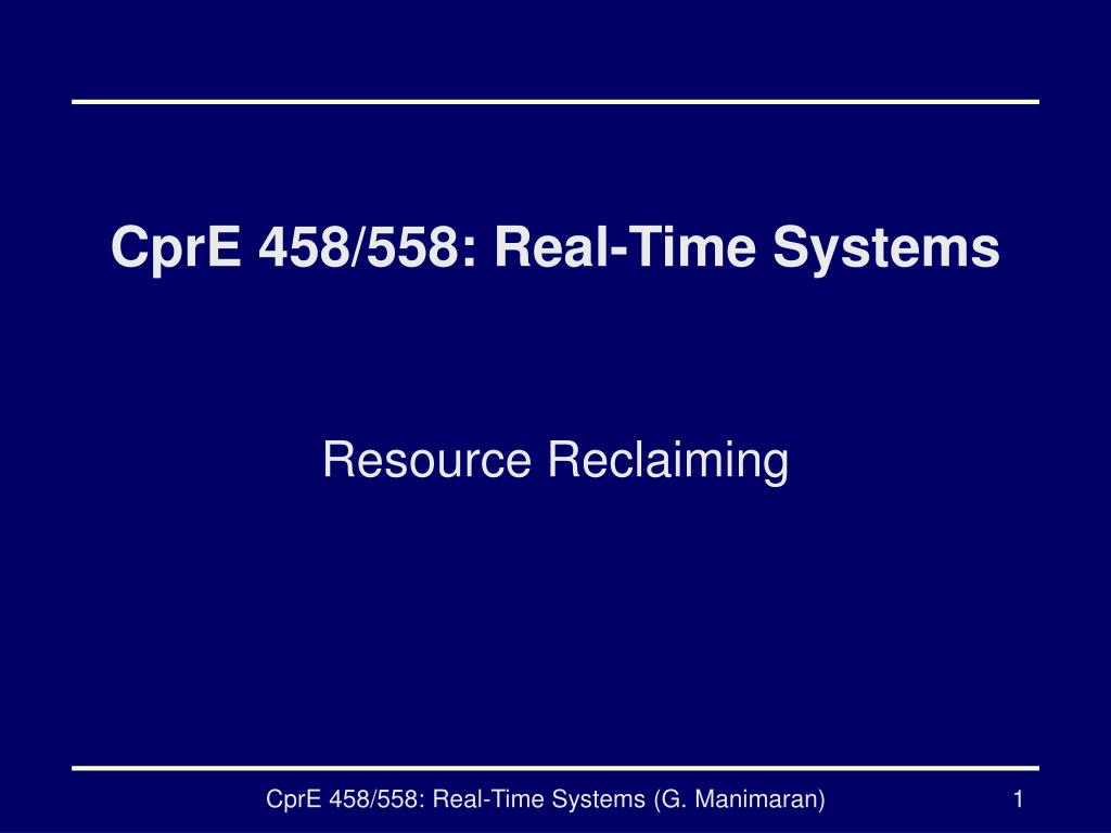 cpre 458 558 real time systems l.
