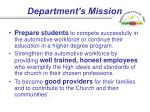 department s mission