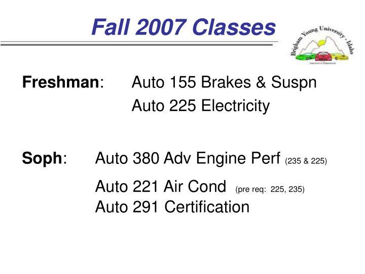 Fall 2007 Classes