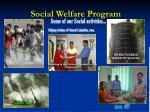 social welfare program21
