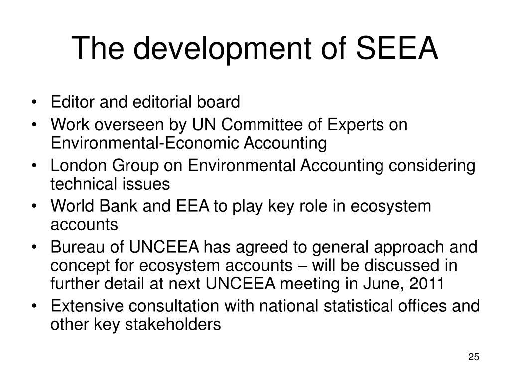 The development of SEEA