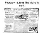 february 15 1898 the maine is sunk